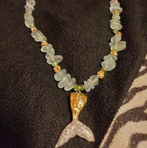 Jewelry - Custom made mermaid necklace.